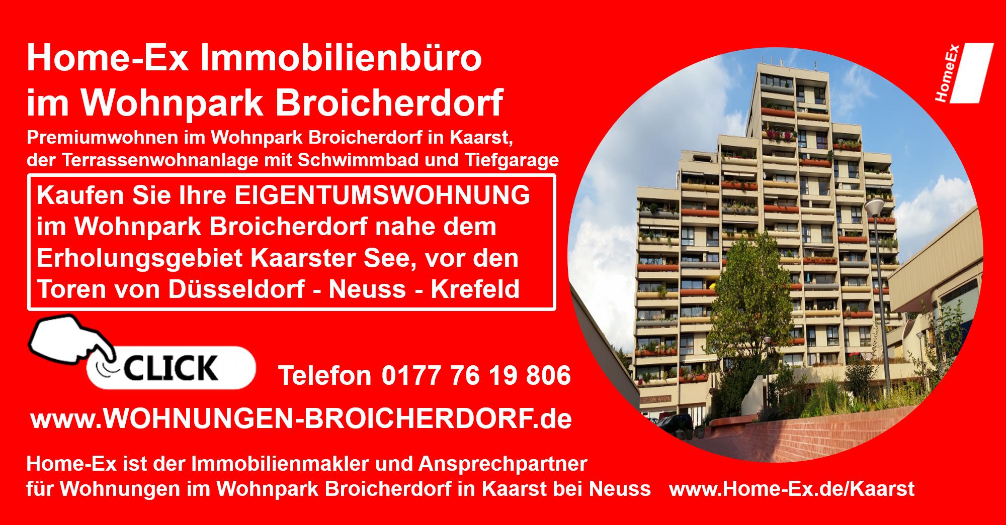 Kaufen Sie Ihre EIGENTUMSWOHNUNG im Wohnpark Broicherdorf nahe dem Erholungsgebiet Kaarster See, vor den Toren von Düsseldorf - Neuss - Krefeld