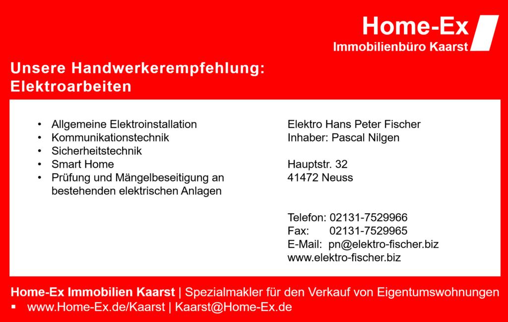 Home-Ex Immobilien Handwerkerempfehlung in Kaarst für Elektroarbeiten